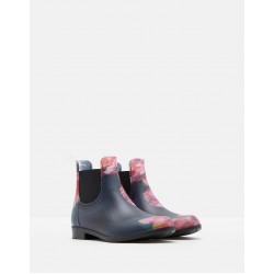 Welly Boots - Joules - Rockingham - Girls NAVY GRANNY FLORAL - jnr  11, 12  - sale