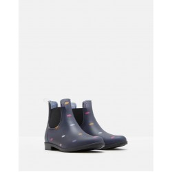 Boots - Joules -Welly Boots -  ROCKINGHAM WATERPROOF RUBBER CHELSEA BOOTS - NAVY MULTI DOT - jnr 10, 12, 13 and 1 - sale