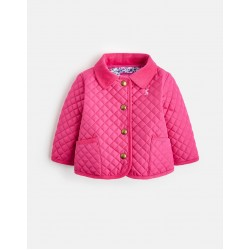 Jacket - Joules Baby - Mabel Quilted Jacket, True Pink - 12-18, 18-24, 2-3y