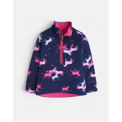 Sweatshirt - Joules  - Girls Fairdale - NAVY MAGIC UNICORN  - 3, 4, 5, 6y