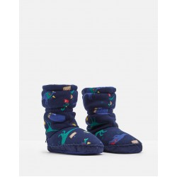 Slippers - Joules - Padabout - Navy Dino - extra small (2x), small (2x), medium (2x) , large (2x) extra large (2x)
