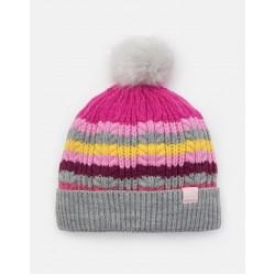Hat - Joules - Bobble - multistripe girls - 4-7y, 8-12y