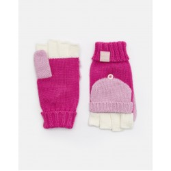 Gloves and Mittens   - Joules - AILSA - BOBBLE MITTENS - Pink -  8-12y