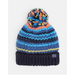 Hat - Joules - Bobble - Multistripe  4-7, 8-12y