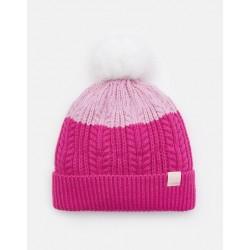 Hat - Joules - Bobble - Pink 8-12y  - last in  sale