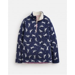 Sweathsirt - Joules  - Fairdale  LUXE fur lined - NAVY GLITTER UNICORN  3, 4,  7-8y
