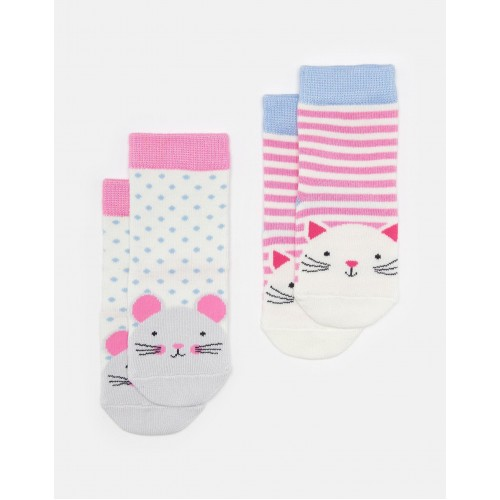 Socks - Joules  - Baby neat Feet Bamboo - cat and mouse - 6-12m and 1-2 , 2-3y