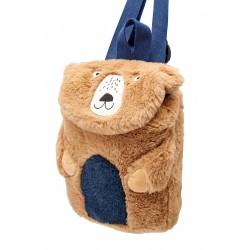 Bag - Joules - Bear Fuzzy Bag - Teddy with blue tummy - sale