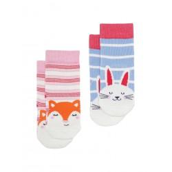 Socks - Joules - Baby Neat Feet Bamboo - Fox - 1-2, 2-3y