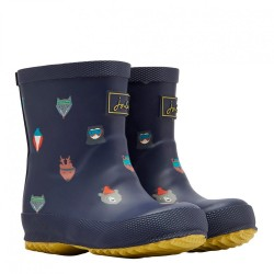 Welly Boots - Joules - Baby FRENCH NAVY ANIMALS - 4, 5, 6, 7 Baby shoe size - sale