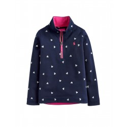 Sweatshirt fleece - Joules - Fairdale  girls  -  NAVY HEARTS - last item -45% off clearance  SALE