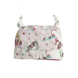 Baby Girls Pink Sun Hat Reversible Gingham Pesci Summer Hat 6-12 12-18 Month