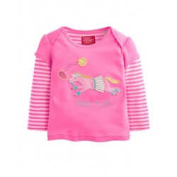 Top - Joules Baby Alyssa in wild pink 9-12m