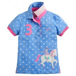 Top - Joules Girls - Moxie polo - Blue Horse - 7y