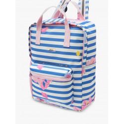 Bag - Joules Children's Floral Print Easton Square Backpack - MID BLUE FLORAL - sale