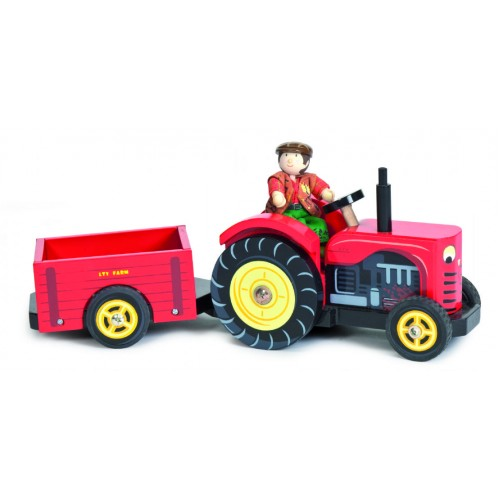 Toy - Bertie's Red Tractor with Trailer