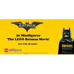 Minifigures - LEGO BATMAN  Movie
