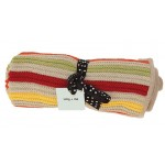 Blankets - Unisex knitted blanket - yellow/beige mulit
