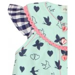 Lilly&Sid - Babygrow - Mix print woven playsuit in  SALE  6-12m