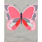 Lilly&Sid - Jacket - Flutter butterfly - Hoody in SALE - last one  5-6 (size up is recommended )