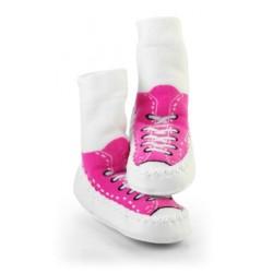 Moccasins - Pink Sneaker 6-12m