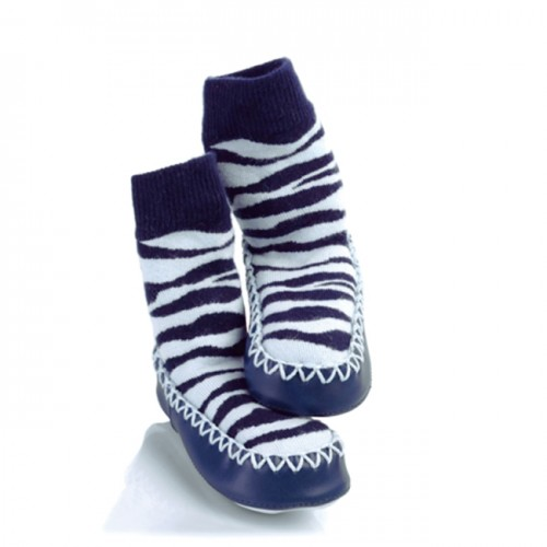 Moccasins - Zebra 6-12m