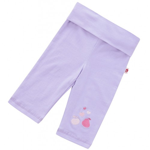 Leggings - Piccalilly - Yoga Cropped Leggings - Violet in SALE 12-18, 18-24m