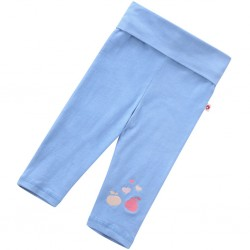 Leggings - Piccalilly - organic cotton -  cropped Leggings - Festival Blue  - SALE  - 6-12m, 18-24, 2-3y