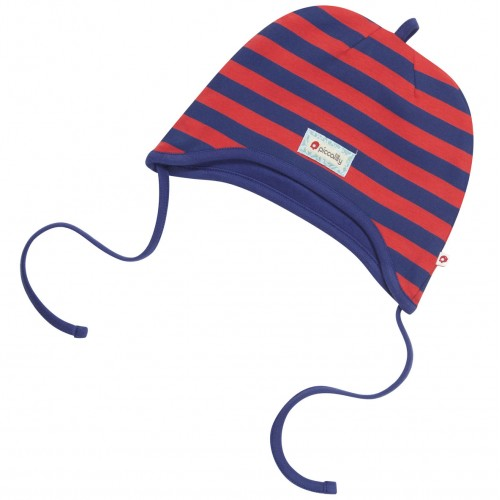 Hat - Piccalilly organic cotton - Red and Navy - SALE  - S / M left only