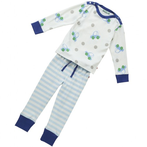 PJ - Piccalilly  Boys - organic cotton - car in SALE  , 5-6