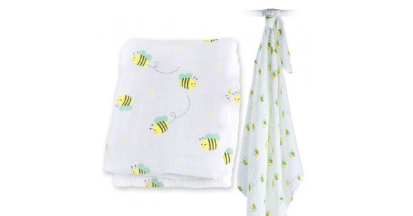 Muslin Swaddle Bumbling Bee