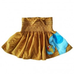 Skirt - Elephant - soft cord -  2-3y - sale