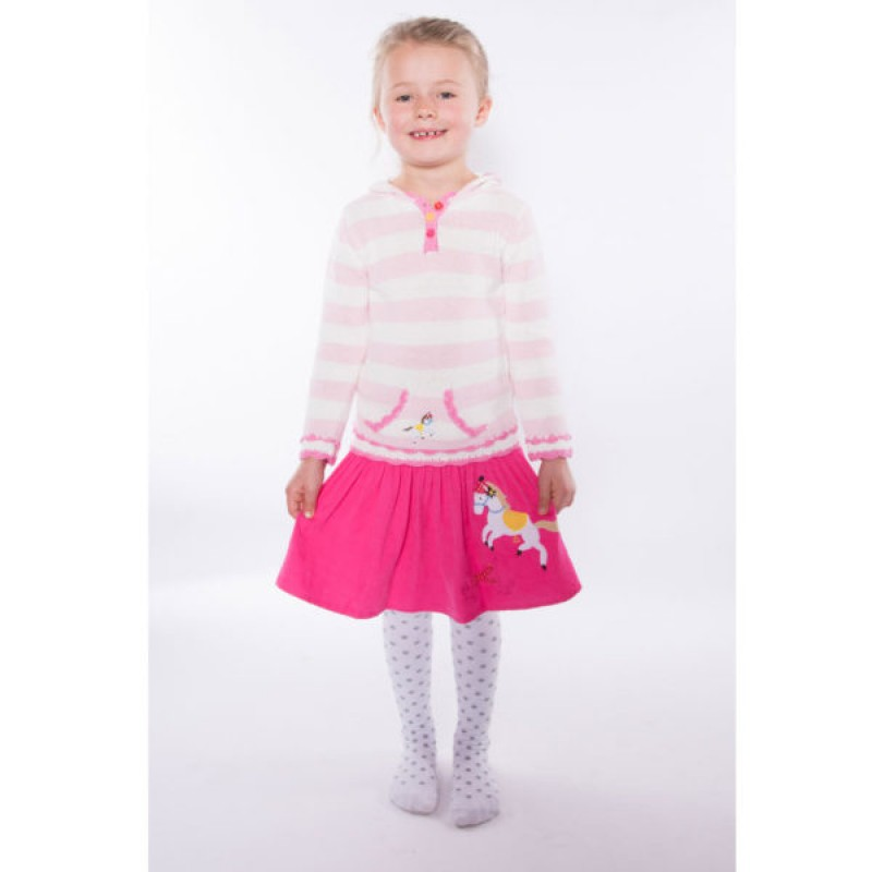 brand new girls pink hobbyhorse top by Powell Craft age 1-2 years