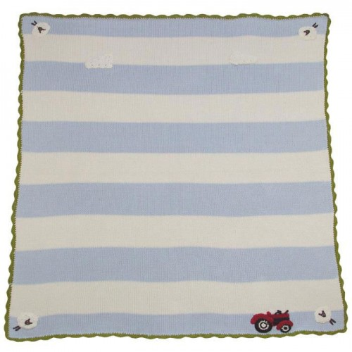 Blanket - FARMYARD PRAM BLANKET  (75 x 107 cm) - sale