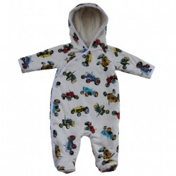 Jumpsuit - Tractor - fleece lined - 0--6m, 6-12m - sale