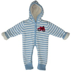 Bundler - Fleece lined - Tractor / Farm yard -  size 9-15m