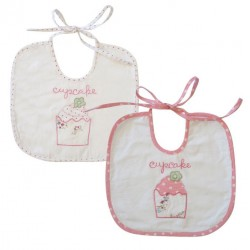 Bib - Cupcake (1x  random selection - or in text box - white or pink if you have a preference  ) - sale