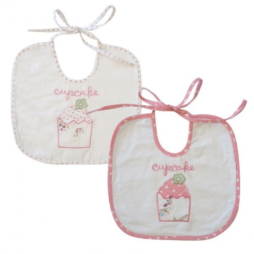 Bib - Cupcake (1x  random selection - or in text box - white or pink if you have a preference  )
