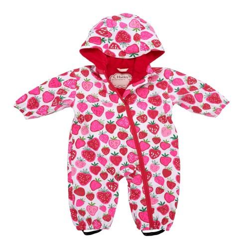 Bundler - Hatley Baby Strawberry Waterproof Pramsuit 12-18, 2-3y - sale