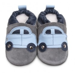 Shoes - Clearance  - grey light blue car - 6-12m
