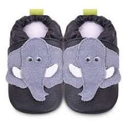 Shoo shooes - Black/grey elephant - SALE - 6-12m