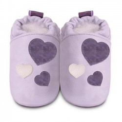 Shoo Shoos - Lilac heart - SALE -  12-18m