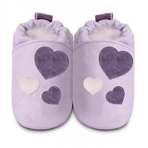 Shoes - Clearance  - Lilac purple heart - SALE -  12-18m