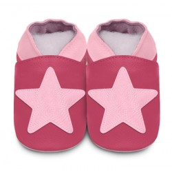 Shoes - Clearance  - Pink/Ruby Star - SALE - 18-24m - last one