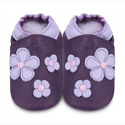 Shoes - Clearance - Purple Flowers - SALE - 0-6m
