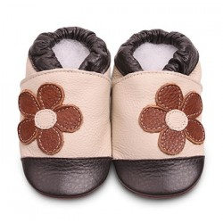 Shoes - Clearance  -  Brown/ beige flower  SALE - 12-18m
