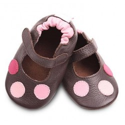 Shoes - Clearance  - Brown and Pink Spots  - SALE - 18-24m last one