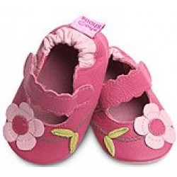 Shoo Shoos - Ruby T Bar and Flowers - SALE - 0-6m
