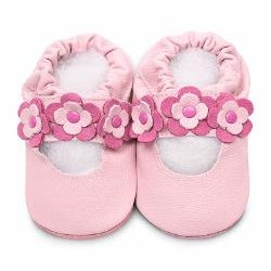 Shoes - Clearance  - Pink / flowers - SALE - 0-6m