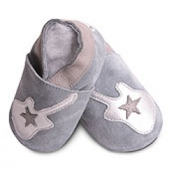 Shoes - Clearance - Silver and Grey Guitar - SALE- 18-24m - last one